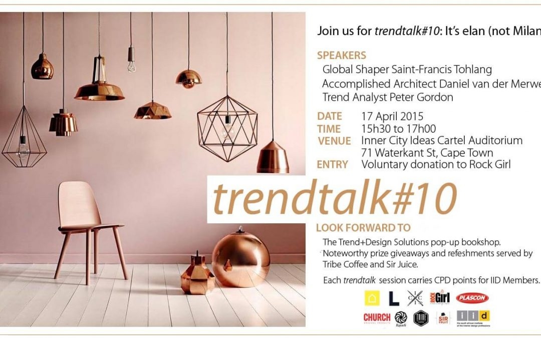 Join us for trendtalk#10: It's élan (not Milan)